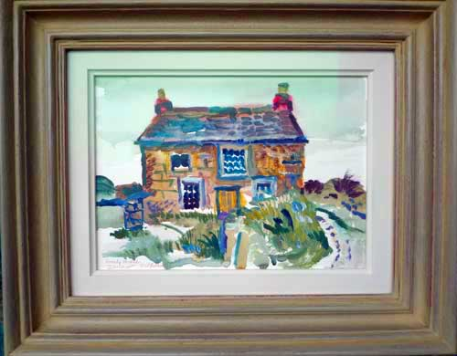 fred yates lonely house watercolour