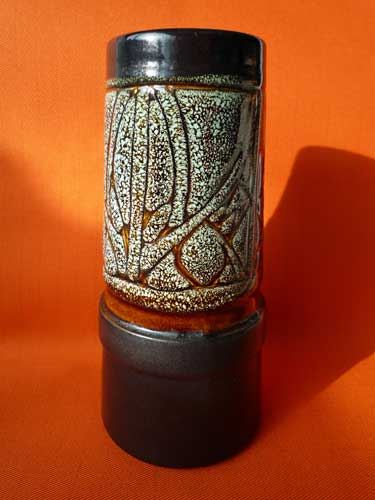 Celtic Pottery Brown Medallion Vase