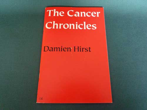 Damien Hirst Rare Signed Book The Cancer Chronicles