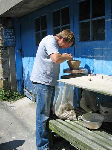 essex tyler potting outside his first gallery space